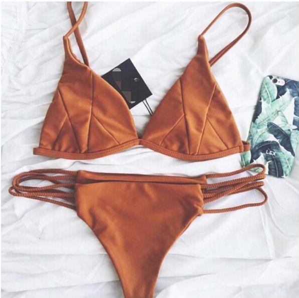 Brown Bikini Set
