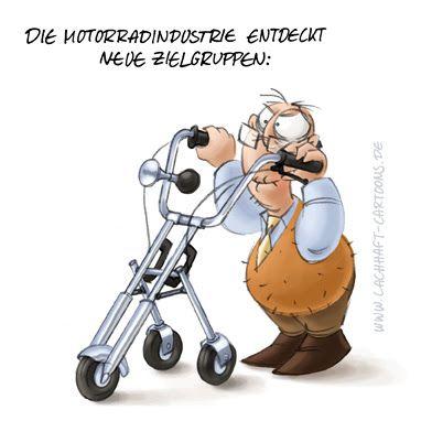 Bildergebnis für Motorradfahrer cartoon