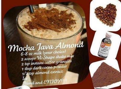 coffee, chocolate, & almond to make this tasty mocha java almond shake ...