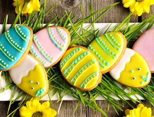 Ciasteczka na Wielkanoc, przepis, wypieki, kruche ciasteczka