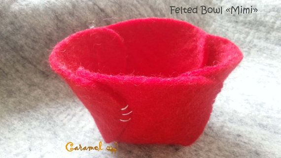 Felted Bowl MIMI made in handmade felt form Nepal by CaramelShop, $15.30
