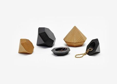 Box fra Areaware - Diamond Box, lille 149 kr. Sort - set i Magasin