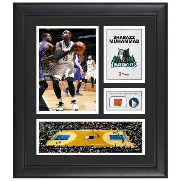 "Shabazz Muhammad Minnesota Timberwolves Fanatics Authentic Framed 15"" x 17"" Collage with Team-Used Ball - $79.99"