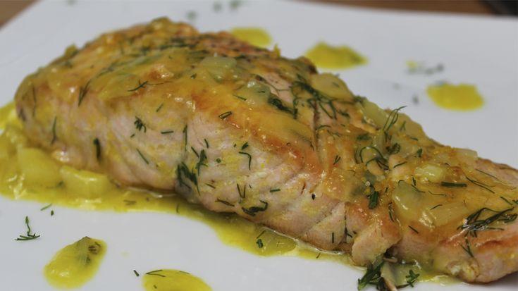 Receta fácil de salmón a la naranja