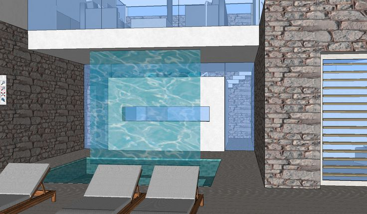 3d  zwembad waterval