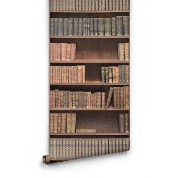 Bookshelf Library Wallpaper
