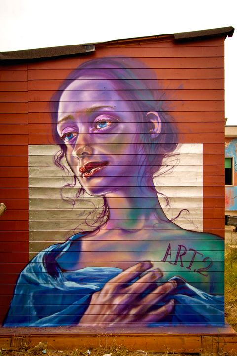 This bit of awesomeness brought to you by street art duo Caktus & Maria.
