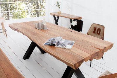 Luxusný nábytok REACTION: Jedálenský stôl AMAZONIA z masívneho dreva.