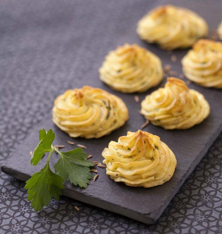 Photo de la recette : Pommes Duchesse au persil et cumin