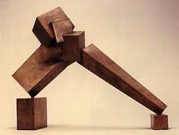 "Bruce Beasley Intersections, cast bronze, 24"", 1987. -- or -- Titiopolis Arch, Cor-ten steel, 116"", 1987. ??"