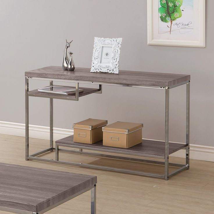 Coaster Furniture Dark Gray Sofa Table | from hayneedle.com #coasterfurnitureshelves #coasterfurniturecouch
