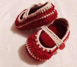 Zapatitos tejidos a crochet