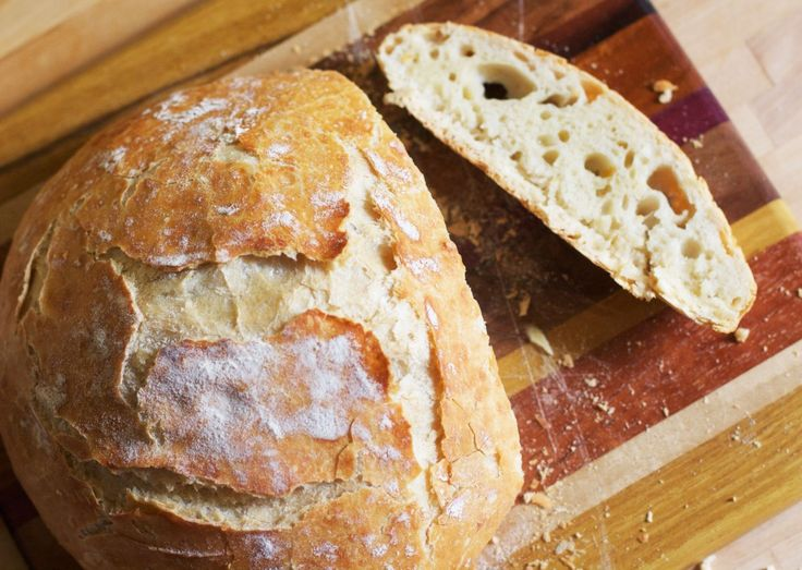 No-Knead Crusty Artisan Bread  Cook Time: 45 hours    Yield: 1 loaf    Ingredients    3 cups all-purpose flour  1 1/2 cups luke-warm water  1-2 tsp sea salt  1/2-1 tsp yeast*