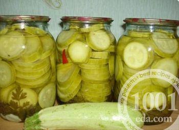 Рецепт заготовки кабачков и цуккини на зиму