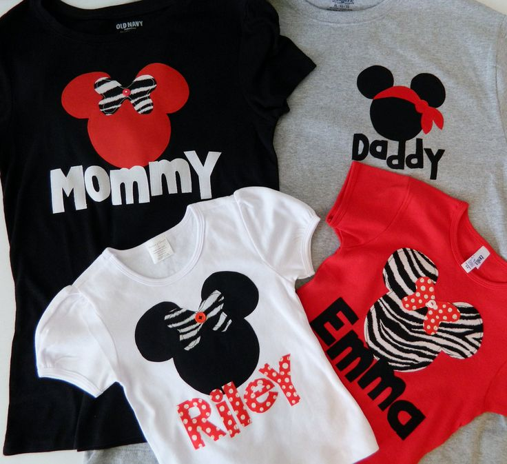 Items similar to Disney clothes - baby, toddler, tween, adult t-shirt Minnie or Mickey Mouse personalized name applique sizes 12m - 16 adult XS - XXL on Etsy
