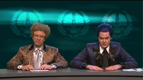 The Hunger Games skit on SNL was the best thing I've seen. In my life.