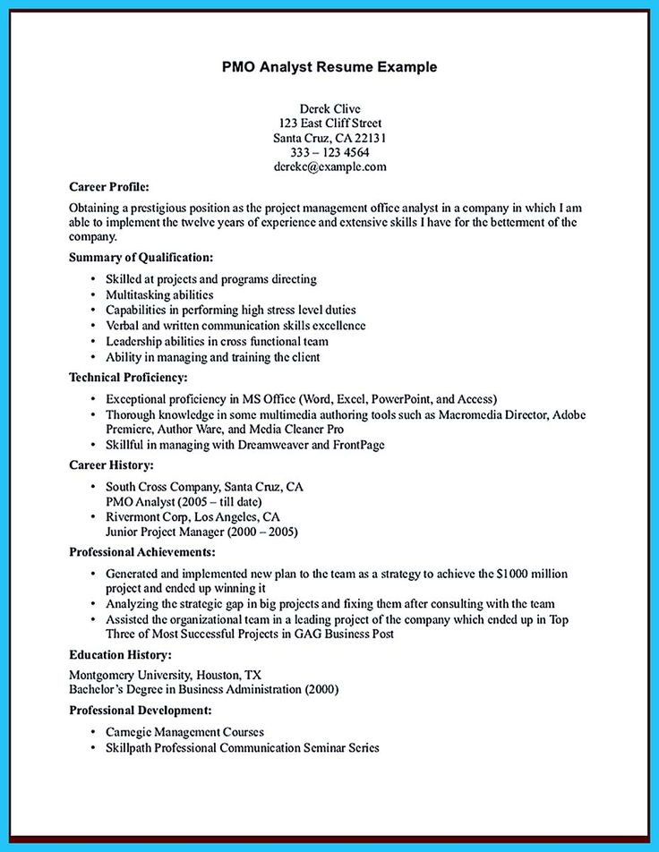 If you are a business analyst and you just seeking for a job in a - pmo analyst resume