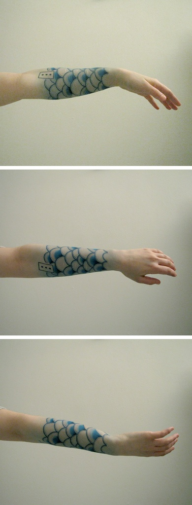 56 best rainbow tattoos images on pinterest tatoos for Fish scale tattoo