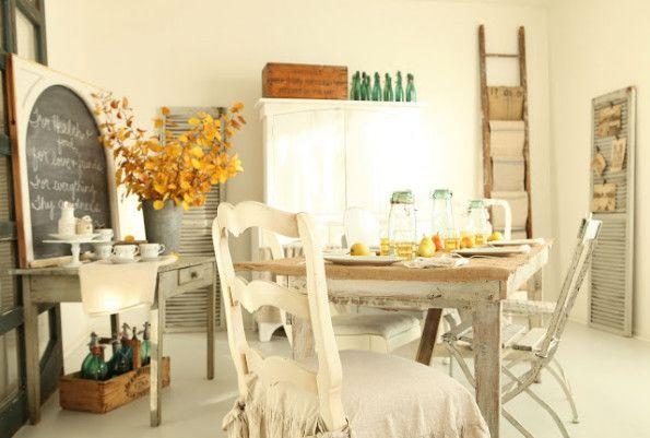 Sala de jantar rústica francesa