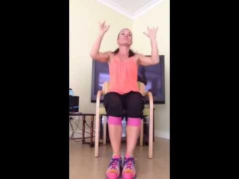 Zumba gold chair part 1 youtube that seniors can do for Chair zumba