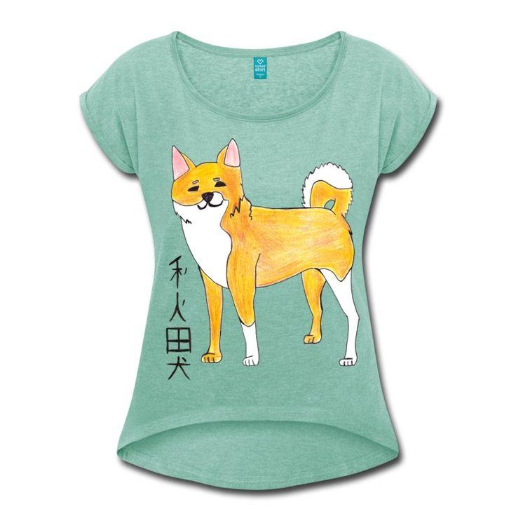 Kawaii Akita https://www.spreadshirt.it/akita-A200360181?department=3&productType=943&color=99C8B8&appearance=611&view=1 #dog #animal #cute #kawaii #japan #tshirt #cool #shopping #elekairi