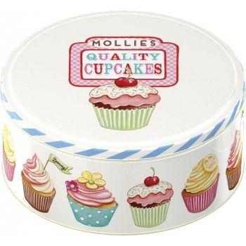 Lata pequeña galletero cupcakes retro 1950