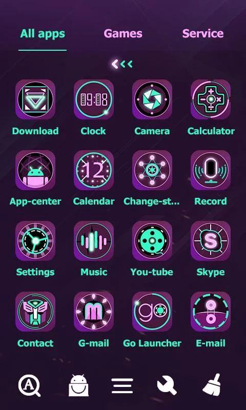 Fluorescent Go Launcher Theme- screenshot