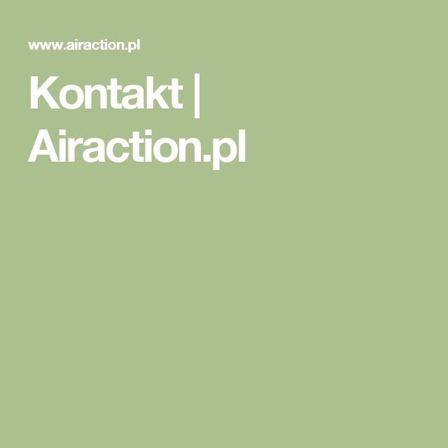 Kontakt | Airaction.pl