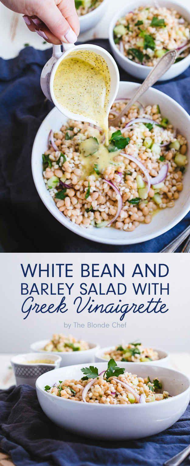 White Bean and Barley Salad with Greek Vinaigrette