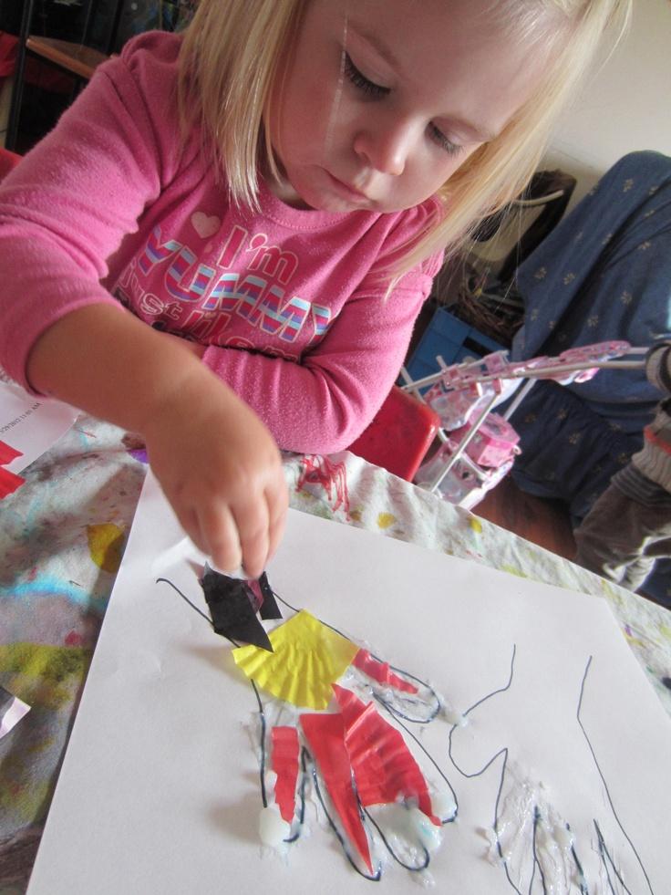 Aboriginal flag hand collage