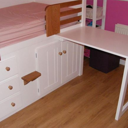 3 drawer kids cabin bed with detachable desk