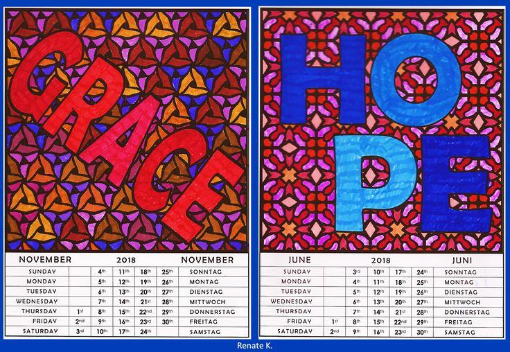 152 best calendars kalender images on pinterest. Black Bedroom Furniture Sets. Home Design Ideas