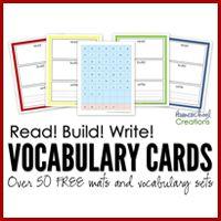Read, Build, Write Printables