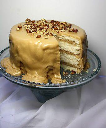 Caramel White Velvet Butter Cake.... holy crap.....