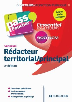 Concours Rédacteur territorial/principal 2e edition Anne Achddou, Adèle Bentegeat, Sébastien Duval