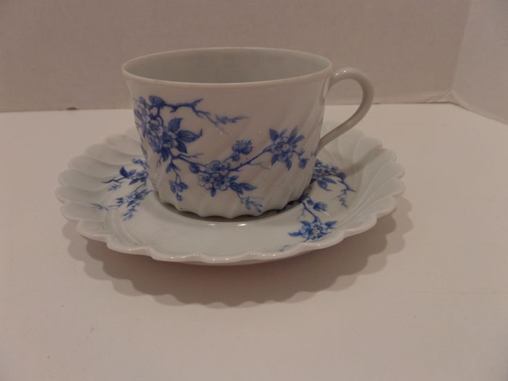 Demitasse cup with pretty blues!