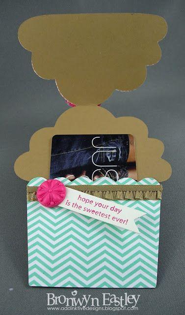 addINKtive designs: Birthday Cupcake Gift Card Holder Visit addinktivedesigns.blogspot.com.au