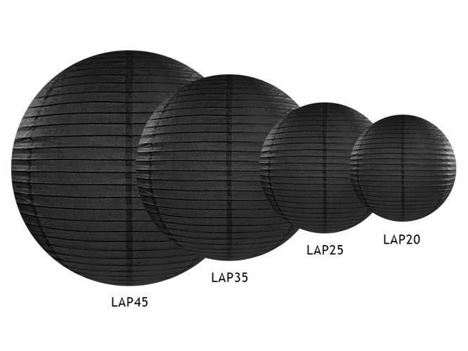 Lampion papierowy abażur czarny 45cm