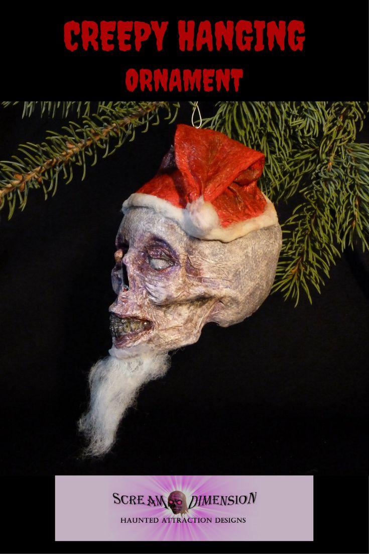 Creepy Santa Halloween/Christmas hanging ornament.