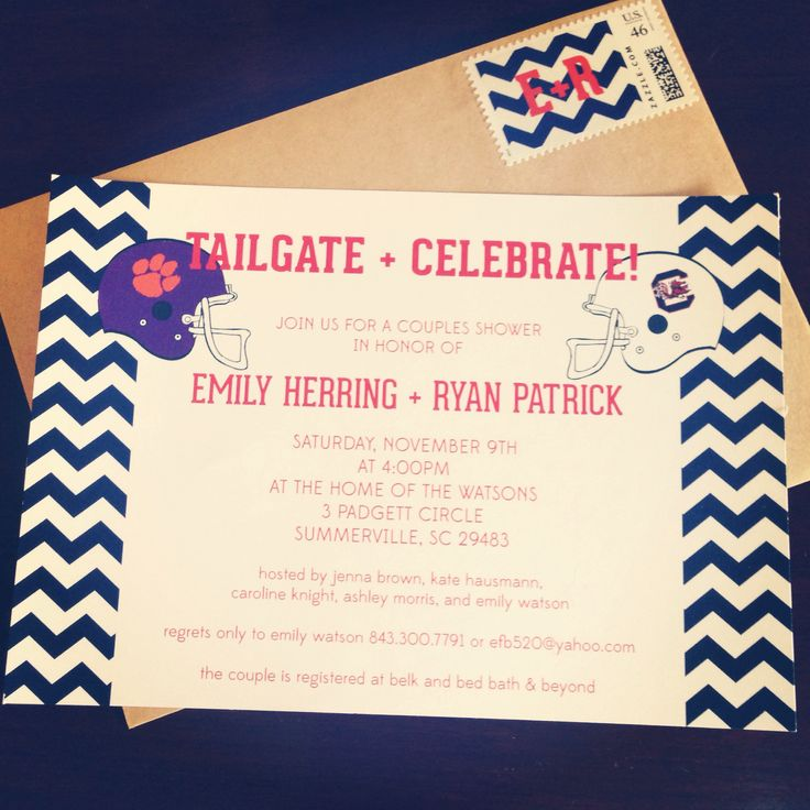 Tailgate & Celebrate! // Tailgate Themed Couples Wedding