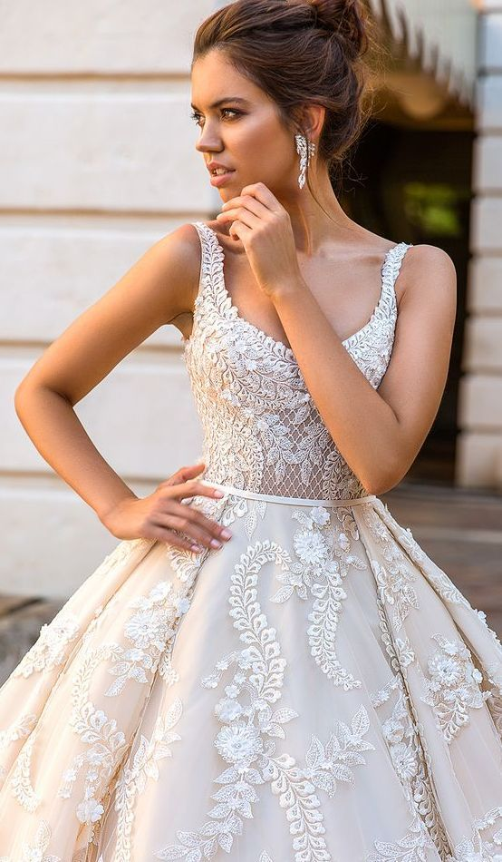 Sleeveless Scoop Neck Embroidery Embellished Wedding Dress Dresses Pinterest And Bridal