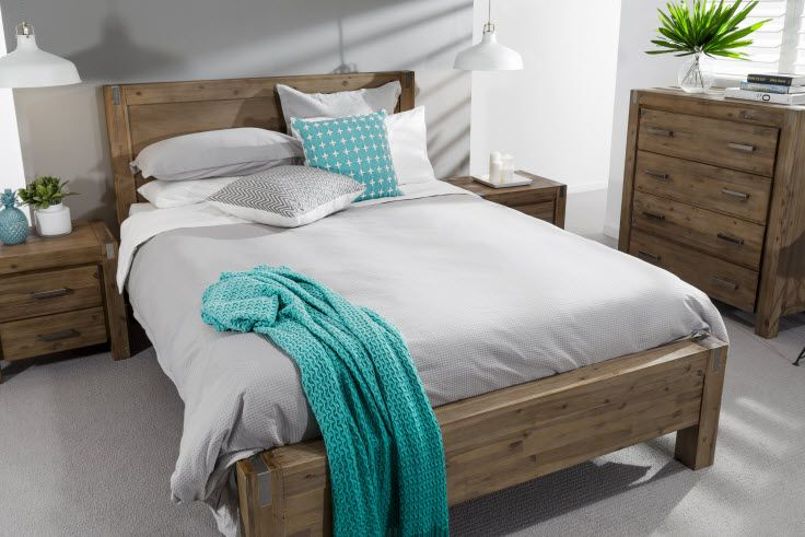 Silverwood 4 Piece Tall Chest Queen Bedroom Suite | Super Amart