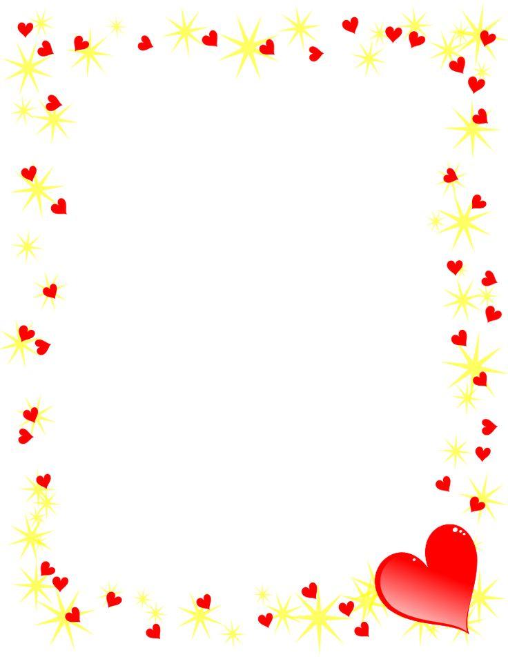 Hearts and Gold Stars Border | EĞİTİM METARYELLERİ ...