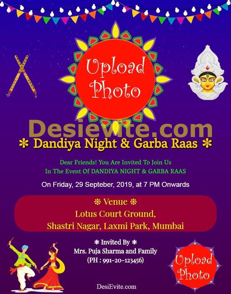 Navratri dandiya night celebration 2019 Online