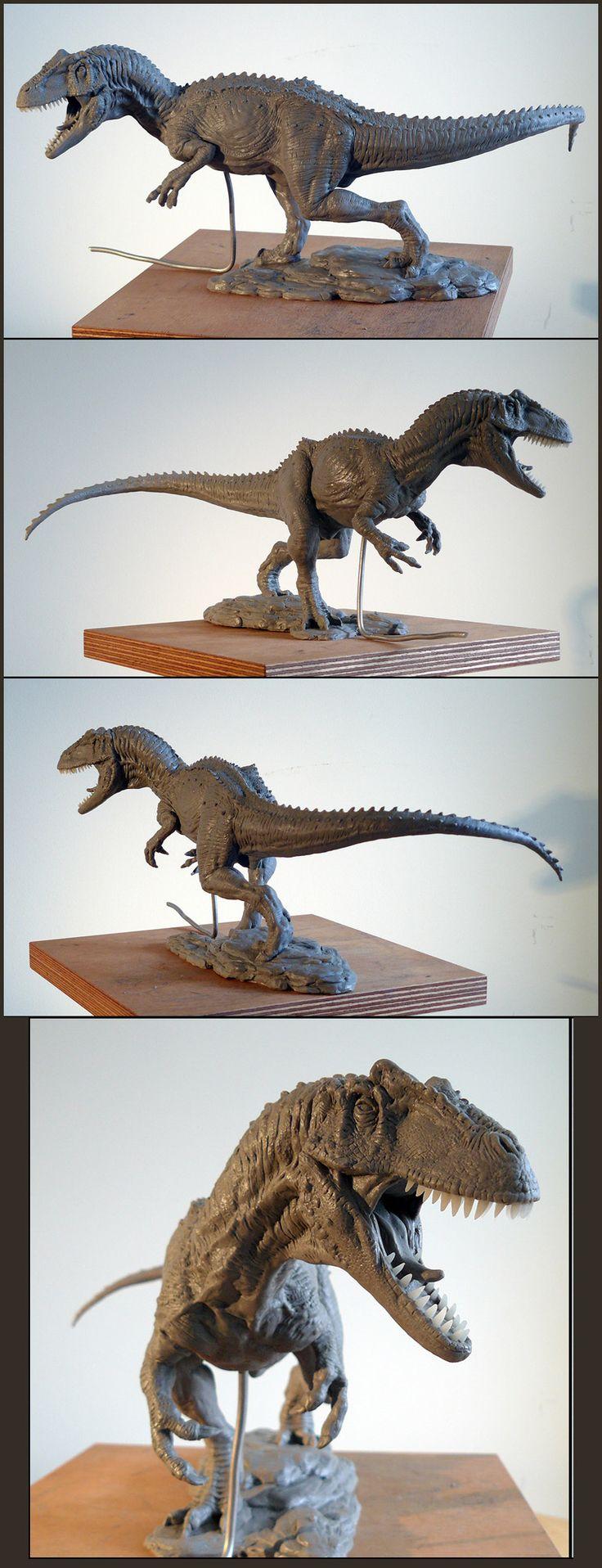 Escultura de alossauro