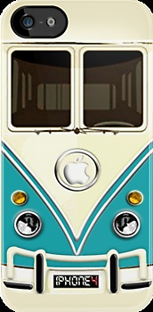 Blue Volkswagen VW cartoons iphone 4 4s, iPhone 3Gs, iPod Touch 4g case, Available for T-Shirt man and woman