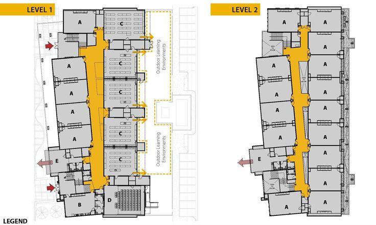 Galeria de Edifício Acadêmico da Edison High School / Darden Architects - 10