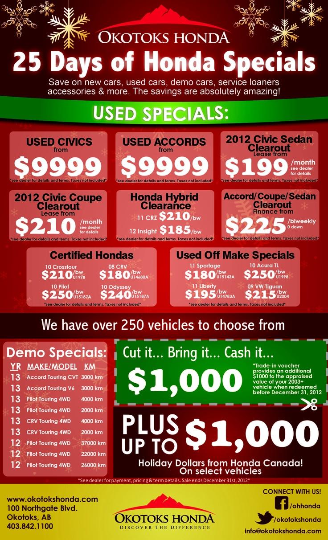 25 Days of Honda Specials!