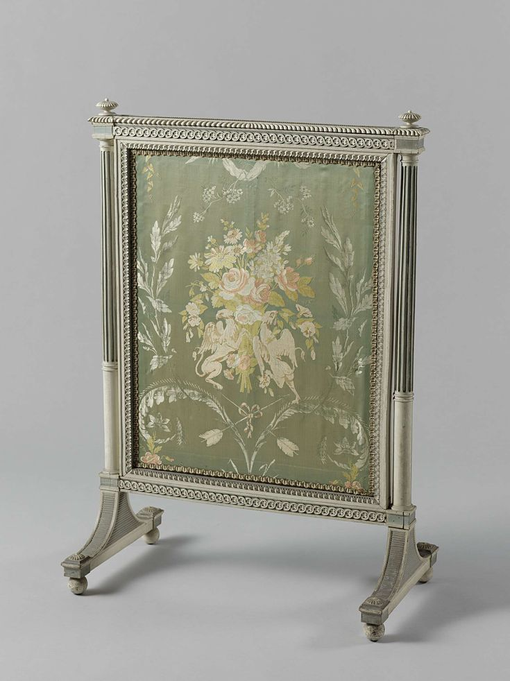 Vuurscherm, Anonymous, Nederland. Haarlem reception room 1794, Abraham van der Hart, c. 1793 - c. 1795.