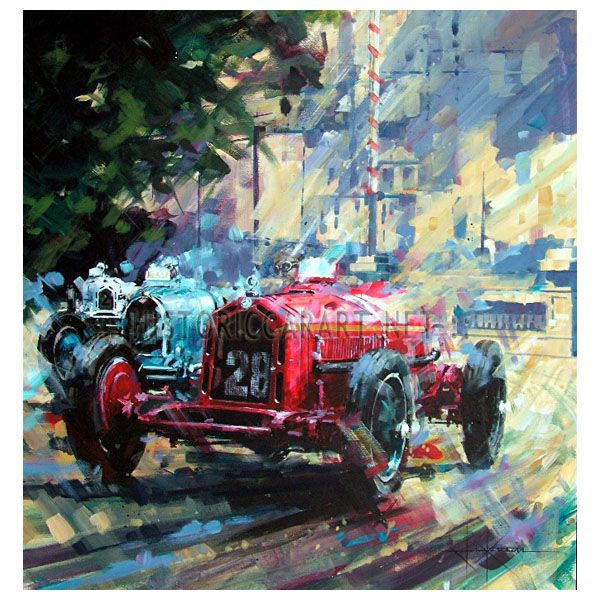 Master of Monaco by John Ketchell (Nuvolari / Alfa) Original Painting